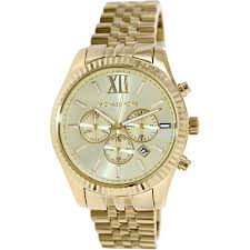 michael kors lexington gold tone chronograph men s watch mk8281 michael kors lexington gold tone chronograph men s watch mk8281 walmart com