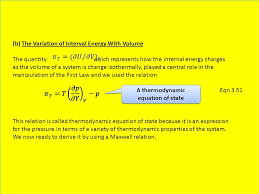 a thermodynamic equation of state