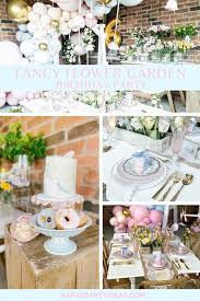 fancy flower garden birthday party