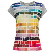 T Shirt Color Chart Womens Grey Colour Chart Print T Shirt