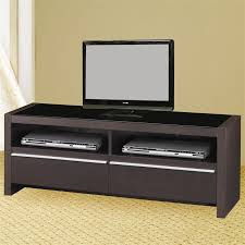 contemporary media console furniture. 48 Inch TV Stand In Cappuccino Finish By Coaster - 700649 Contemporary Media Console Furniture