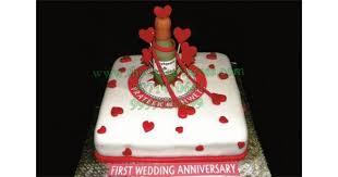 Send First Wedding Anniversary Cake To Gurugram Online Buy First