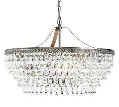 cassiel rectangular crystal drop chandelier round pottery barn o