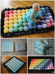 diy baby bubble quilt sew pattern handmade baby shower gift ideas instructions