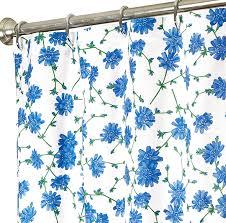 fabric shower curtains blue fl