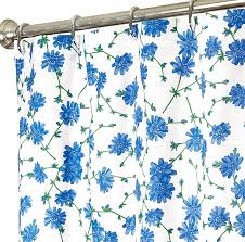 fabric shower curtains blue fl