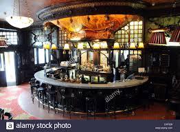 Art Nouveau bar at The Warrington Pub, Maida Vale, London, England