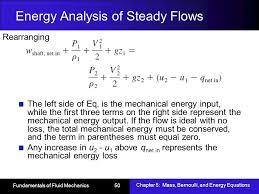energy ysis of steady flows