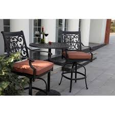 darlee st cruz 3 piece cast aluminum patio counter height
