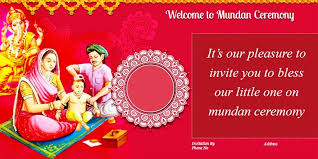 mundan ceremony invitation es card design and wordings
