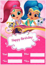make your own birthday invitations free printable shimmer and shine invitations for girls free invitation