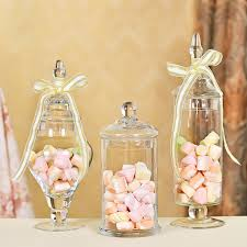 Decorative Glass Candy Jars 100pcsSet Transparent Lid Storage Bottle Glass Candy Jars Wedding 96