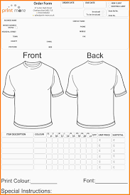Free Online Order Form Template 8 Free T Shirt Order Form Template Word Marlows Jewellers
