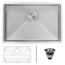 ruvati 28 inch undermount 16 gauge tight radius stainless steel kitchen sink single bowl rvh7250