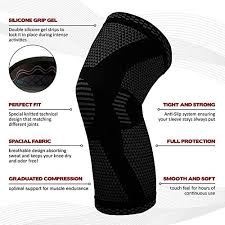 Powerlix Compression Knee Sleeve Sizing Chart Powerlix Compression Knee Sleeve Best Knee Brace For Men Women Knee Support For Running Crossfit Basketball Weightlifting Gym Workout