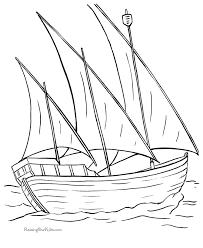 Small Picture Columbus ship Nina Boat coloring page 014