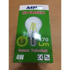 Chia sẻ: 0 Đèn Led Giả Dây Tóc 4W MPE (phi 95 Ánh Sáng Vàng)