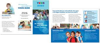Child Care Brochure Design Danielle Glubish 39 S Portfolio Pre School Brochure Design