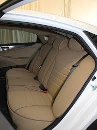 hyundai sonata full piping seat covers rear seats