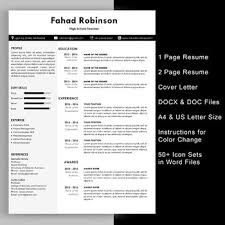 ms resume template modern teacher resume template with cover letter editable in ms word