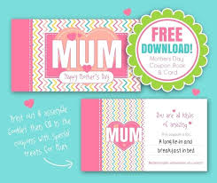 free mothers day printable gift voucher booklet vouchers template