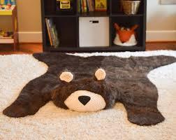 woodland nursery decor faux bear rug nursery rug by woodland animal nursery rug