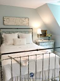 benjamin moore woodlawn blue best blue paint colour guest bedroom antique furniture kylie m interiors e decor design and colour consulting