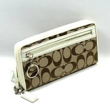 Home · Coach · Daisy Signature Large Zip Around Wallet  Clutch  Wristlet  White. CLICK THUMBNAIL TO ZOOM. Found ...