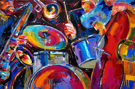 jazz art painting abstract by debra hurd