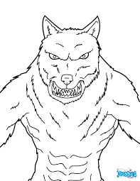 Coloriage Halloween Loup Garou Goshowmeenergy