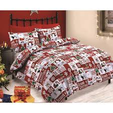 velosso fun santa red blue duvet quilt cover red white xmas bedding set smiley bedding double on on