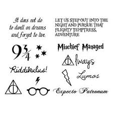 small tattoo behind ear harry potter google search