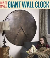 a giant wall clock diy projects craft