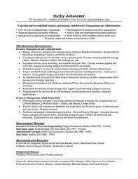 Assistant Property Manager Resume Objective ...