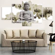 Living Room Paintings Art Aliexpresscom Buy Unframed 5 Panel Large Orchid Background
