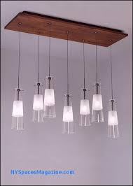 7 light rectangular metal canopy accented with solid wood or metal detail also available in led