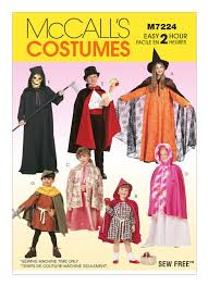 Mccalls Costume Patterns Delectable M48 Children's Boys' And Girls' Cape And Tunic Costumes Sewing