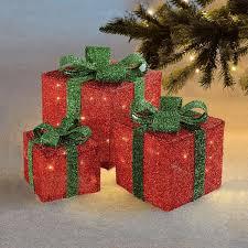 3 Light Up Christmas Boxes Details About 3 Box Led Light Up Christmas Parcels Gift Boxes Festive Xmas Decoration Set New