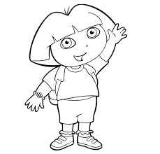 Coloring Pages Dora The Explorer Coloring Pages Pdf Coloring