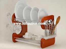 Kitchen Dish Drainer Rack Decor Tips Cool Stainless Steel Designer Dish Drainer Rack With