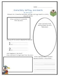 Characters Setting And Events Chart For Common Core Standard Rl 1 3