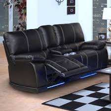 New Classic Electra Contemporary Dual Recliner Console Loveseat With Cup  Holders And Storage Recliner Cup Holder Storage G65