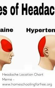 S Of Headac Aine Hyperten Headache Location Chart Meme