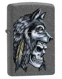 <b>Зажигалка Zippo</b> 29863 <b>Wolf Skull</b> Feather