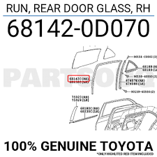 681420d070 genuine toyota run rear