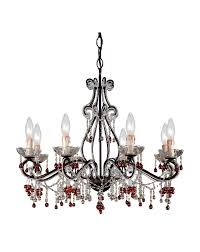 4509 dr crystorama paris flea market chandelier adorned with amber colored murano crystal