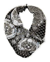mignonne gavigan le charlot beaded scarf necklace black women necklaces