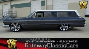 1963 Chevrolet Bel Air 672 Miles Gray/White Wagon 327 CID V8 Turbo ...