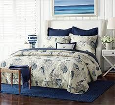 nautical comforter set queen. Perfect Queen Mumgo Ocean Bedding Set Seashells 3 Piece Beach Themed Nautical  Queen Comforter On Amazoncom