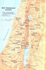 Map Showing Location Of Old Testament Events Bible Maps